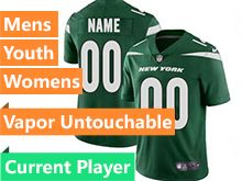2019 Mens Women Youth Nfl New York Jets Green Current Player Nike Vapor Untouchable Limited Jersey