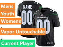 2019 Mens Women Youth Nfl New York Jets Black Current Player Nike Vapor Untouchable Limited Jersey
