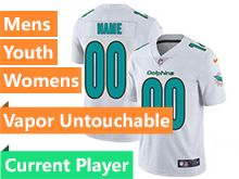 Mens Women Youth Nfl Miami Dolphins White Current Player Vapor Untouchable Limited Jersey
