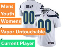 Mens Women Youth Nfl Seattle Seahawks White Current Player Vapor Untouchable Limited Jersey