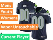 Mens Women Youth Nfl Seattle Seahawks Blue Current Player Vapor Untouchable Limited Jersey