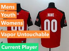 Mens Women Youth Nfl Tampa Bay Buccaneers Red Vapor Untouchable Limited Current Player Jersey