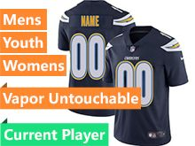 Mens Women Youth Nfl Los Angeles Chargers Dark Blue Vapor Untouchable Limited Current Player Jersey