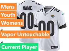 Mens Women Youth Nfl Jacksonville Jaguars White New Vapor Untouchable Limited Current Player Jersey
