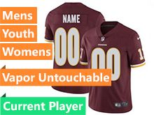 Mens Women Youth Nfl Washington Redskins Red Vapor Untouchable Limited Current Player Jersey