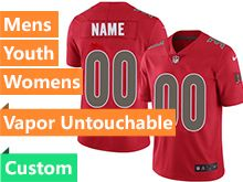 Mens Women Youth Nfl Tampa Bay Buccaneers Custom Made Red Vapor Untouchable Color Rush Limited Jersey
