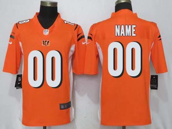 Mens Women Youth Nfl Cincinnati Bengals Orange Custom Made Vapor Untouchable Limited Jersey