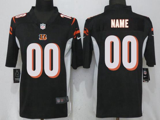 Mens Women Youth Nfl Cincinnati Bengals Black Custom Made Vapor Untouchable Limited Jersey