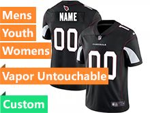 Mens Women Youth Nfl Arizona Cardinals Black Custom Made Vapor Untouchable Limited Jersey