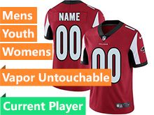 Mens Women Youth Nfl Atlanta Falcons Red Custom Made Vapor Untouchable Limited Jersey