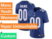 Mens Women Youth Nfl New York Giants Blue Custom Made Vapor Untouchable Limited Jersey