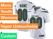 2019 Mens Women Youth Nfl New York Jets White Nike Vapor Limited Custom Made Jersey