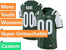 Mens Women Youth New York Jets Custom Made Green Vapor Untouchable Limited Jersey