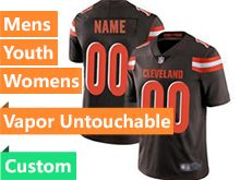 Mens Women Youth Nfl Cleveland Browns Brown Custom Made Vapor Untouchable Limited Jersey