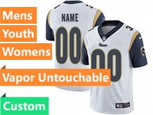 Mens Women Youth Nfl Los Angeles Rams White 2019 Super Bowl Liii Bound Custom Made Vapor Untouchable Limited Jersey