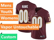 Mens Women Youth Nfl Washington Redskins Red Custom Made Vapor Untouchable Limited Jersey