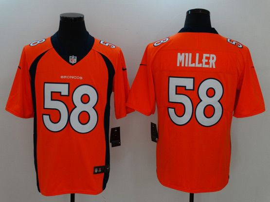 Mens Women Youth Nfl Denver Broncos Orange Custom Made Vapor Untouchable Limited Jersey