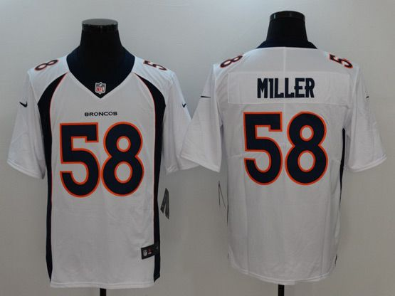 Mens Women Youth Nfl Denver Broncos White Custom Made Vapor Untouchable Limited Jersey