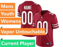 Mens Women Youth Nfl San Francisco 49ers Red Current Player Vapor Untouchable Limited Jersey