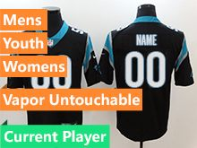 Mens Women Youth Nfl Carolina Panthers Black Current Player Vapor Untouchable Limited Jersey