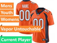 Mens Women Youth Nfl Denver Broncos Orange Current Player Vapor Untouchable Limited Jersey