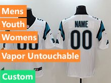 Mens Women Youth Nfl Carolina Panthers White Custom Made Vapor Untouchable Limited Jersey