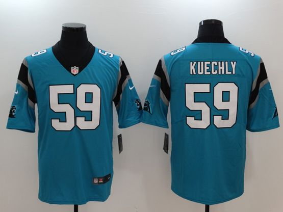 Mens Women Youth Nfl Carolina Panthers Blue Custom Made Vapor Untouchable Limited Jersey