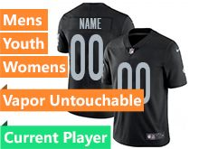 Mens Women Youth Nfl Oakland Raiders Black Current Player Vapor Untouchable Limited Jersey