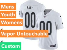 Mens Women Youth Nfl Oakland Raiders White Custom Made Vapor Untouchable Limited Jersey