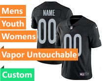Mens Women Youth Nfl Las Vegas Raiders Black Custom Made Vapor Untouchable Limited Jersey