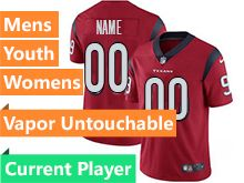 Mens Women Youth Nfl Houston Texans Red Vapor Current Player Vapor Untouchable Limited Jersey