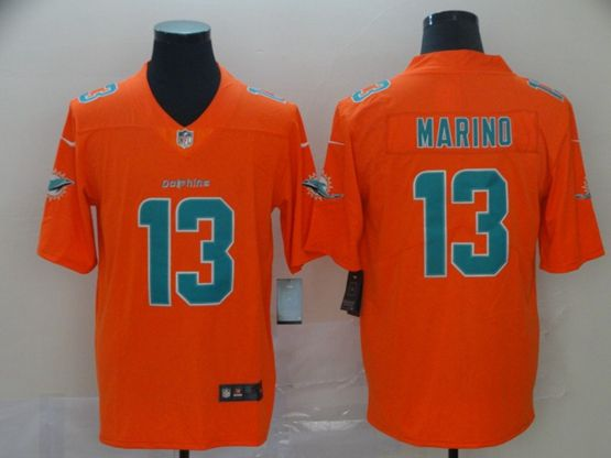 Mens Miami Dolphins #13 Dan Marino Gold Nike Inverted Legend Vapor Untouchable Limited Jersey