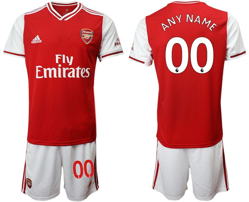 Mens 19-20 Soccer Arsenal Club Current Player Red Home Short Sleeve Suit Jersey