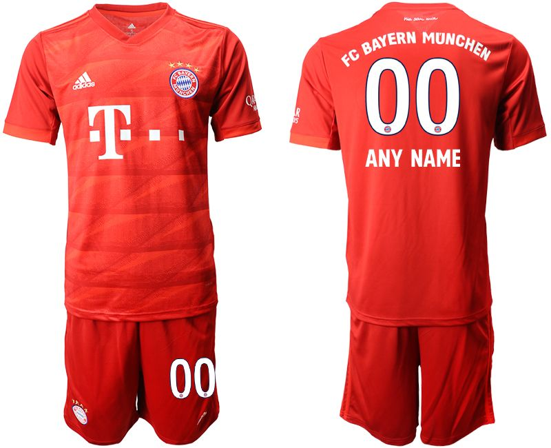 Mens 19-20 Soccer Bayern Munchen Current Player Red Home Short Sleeve Suit Jersey