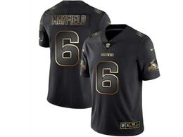 Mens Nfl Cleveland Browns #6 Baker Mayfield Black Gold Vapor Untouchable Limited Jersey