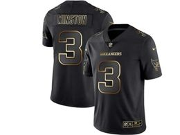 Mens Nfl Tampa Bay Buccaneers #3 Jameis Winston Black Gold Vapor Untouchable Limited Jersey