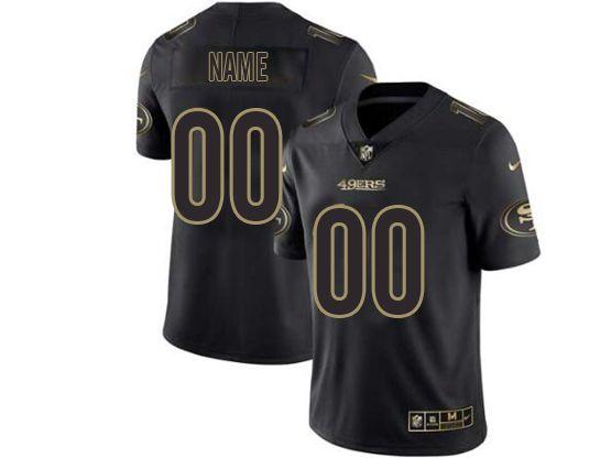 Mens Women Youth Nfl San Francisco 49ers Current Player Black Golden Vapor Untouchable Limited Jersey