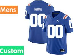 Mens Ncaa Nfl Florida Gators Custom Made Royal Blue Jordan Brand Throwback Alternate Game Jersey