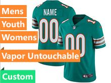 Mens Women Youth 2019 New Nfl Miami Dolphins Green Custom Made Vapor Untouchable Limited Jersey