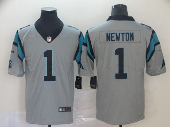 Mens Nfl Carolina Panthers #1 Cam Newton Gray Nike Inverted Legend Vapor Untouchable Limited Jersey