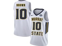 Mens Ncaa Nba Murray State Racers #10 Tevin Brown White Nike Jersey