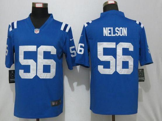 Mens Nfl Indianapolis Colts #56 Quenton Nelson Blue Nike Vapor Untouchable Limited Jersey