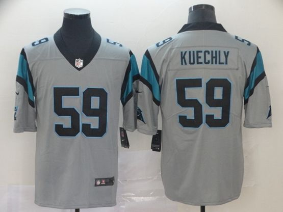 Mens Nfl Carolina Panthers #59 Luke Kuechly Gray Nike Inverted Legend Vapor Untouchable Limited Jersey