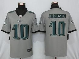 Mens Nfl Philadelphia Eagles #10 Desean Jackson Gray Nike Inverted Legend Vapor Untouchable Limited Jersey