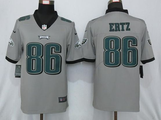 Mens Nfl Philadelphia Eagles #86 Zach Ertz Gray Nike Inverted Legend Vapor Untouchable Limited Jersey