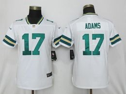 Women Nfl Green Bay Packers #17 Davante Adams White Vapor Untouchable Limited Player Jersey