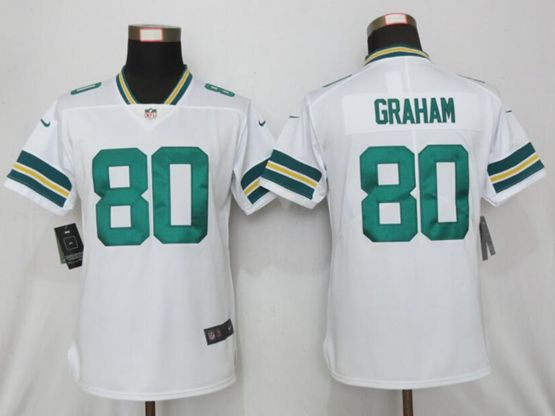 Women Nfl Green Bay Packers #80 Jimmy Graham White Vapor Untouchable Limited Player Jersey