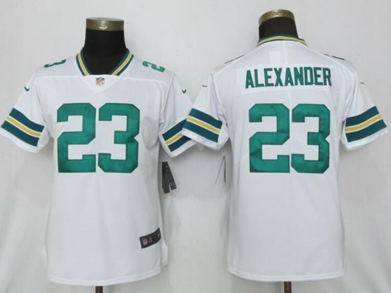 Mens Women Nfl Green Bay Packers #23 Jaire Alexander White Vapor Untouchable Limited Player Jersey