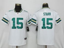 Women Nfl Green Bay Packers #15 Starr White Vapor Untouchable Limited Player Jersey