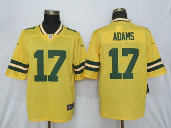Mens Nfl Green Bay Packers #17 Davante Adams Gold Nike Inverted Legend Vapor Untouchable Limited Jersey